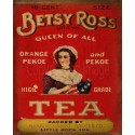 Betsy Ross Tea Shop vintage metal tin sign poster wall plaque