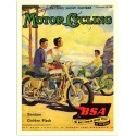 BSA Motorcycling vintage garage metal tin sign poster wall plaque