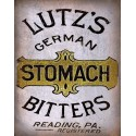 Lutz's German Stomach Bitters vintage medical metal tin sign