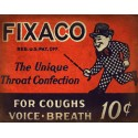 1939 Fixaco  vintage medical metal tin sign poster  wall plaque