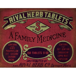 rival-herb-tablets-vintage-medical-metal-tin-sign