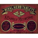 Rival Herb Tablets vintage medical metal tin sign poster  wall plaque