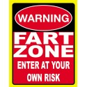 Fart Zone funny pub bar tavern metal tin sign poster wall plaque