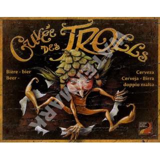 Cuvée des Trolls Cuvée des Trolls Belgian Beer vintage alcohol metal tin sign poster