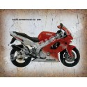 YAMAHA YZF R1 1998 motorcycle vintage metal tin sign poster wall plaque