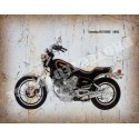 Yamaha  xv750se 1981 motorcycle vintage metal tin sign poster wall plaque