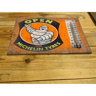 Michelin tyres open for enamel ceramic thermometer sign