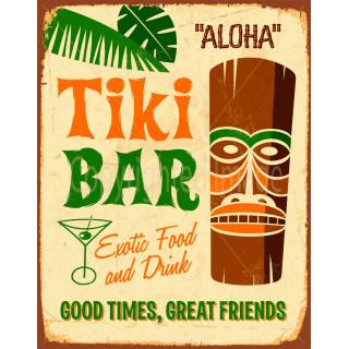 Aloha  Tiki Bar vintage pub bar tavern metal tin sign
