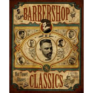 Barbershop Classics    vintage  barber metal tin sign poster
