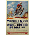 Vintage Moto Cross of 5 Nations garage metal tin sign poster wall plaque