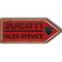 Ducati sales service arrow  motorcycle vintage metal tin sign poster wall plaque