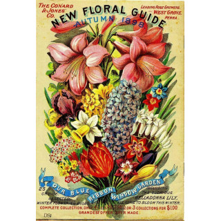 1898 Floral Guide  vintage metal tin sign poster
