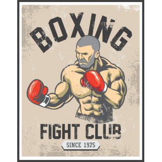 Boxing Fight Club   man cave gym metal tin sign wall plaque