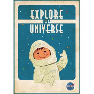 Explore the Universe Nasa metal tin sign poster plaque