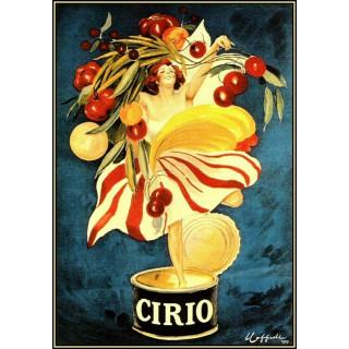 Cirio Foods Vintage Italian vintage  food metal tin sign poster