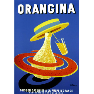 Orangina vintage drink metal tin sign poster plaque
