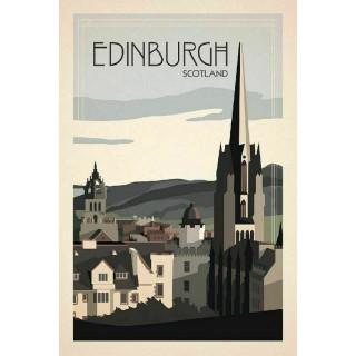 Edinburgh Scotland   metal tin sign poster