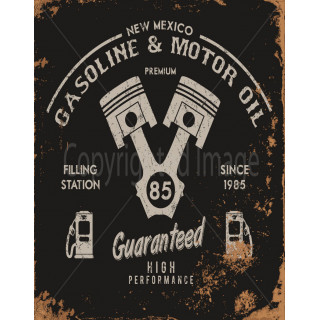 New Mexico Gasoline vintage metal tin sign wall plaque