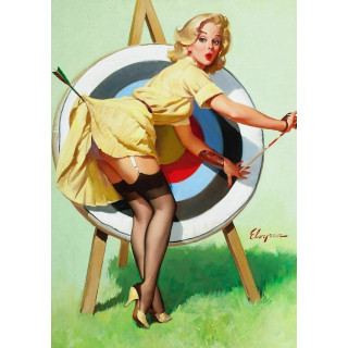 A Near Miss Pin Up metal tin sign poster wall plaque