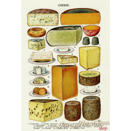 Cheese vintage kitchen metal tin sign poster wall plaque