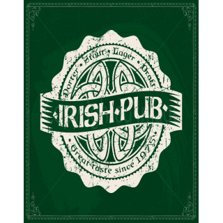 Irish  Pub  vintage alcohol metal tin sign poster