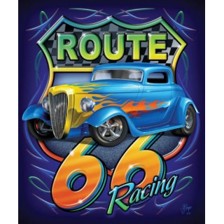 Historic Route 66 vintage garage metal tin sign wall plaque