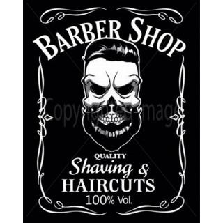 Mustachios Barber Schop metal tin sign poster