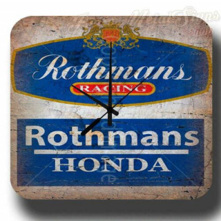 Rothmans Racing Honda garage metal tin sign wall clock