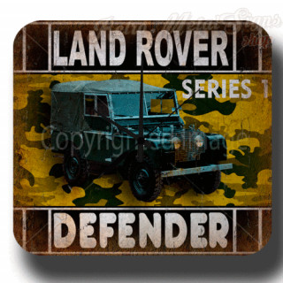 Land Rover Defender garage metal tin sign wall clock