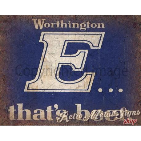 Worthington's E Beer vintage pub metal tin sign