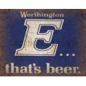Worthington's E Beer  vintage pub bar metal tin sign wall plaque