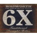Wadworth 6X Beer  vintage pub bar metal tin sign wall plaque