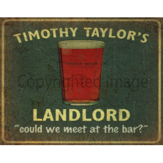 Timothy Taylors Landlord Beer vintage metal tin sign wall plaque