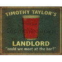 Timothy Taylors Landlord Beer  vintage pub bar metal tin sign wall plaque