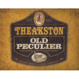 Theakston Old Peculier Beer  vintage metal tin sign wall plaque
