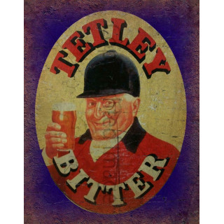 Tetley's Bitter Beer   vintage metal tin sign wall plaque
