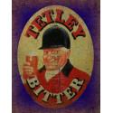 Tetley's Bitter Beer vintage pub bar metal tin sign wall plaque