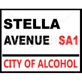 Stella Avenue  vintage pub bar metal tin sign wall plaque
