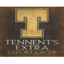 Tennent's Extra Beer vintage pub bar metal tin sign wall plaque