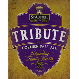 St Austell Tribute Ale Beer  vintage pub bar metal tin sign wall plaque