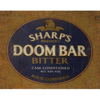 Sharp's Doom Bar Beer  vintage metal tin sign wall plaque
