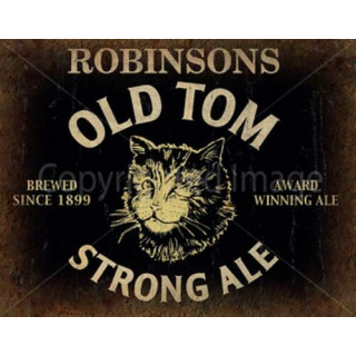 Robinson's Old Tom Ale Beer vintage metal tin sign wall plaque