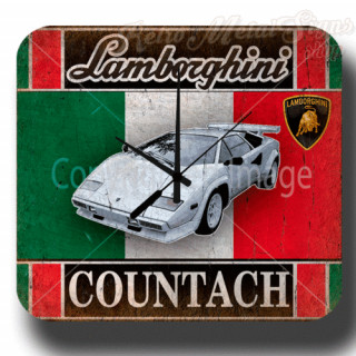 Lamborghini Countach garage metal tin sign wall clock