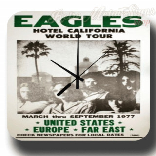 The Eagles Hotel California World Tour metal tin sign wall clock