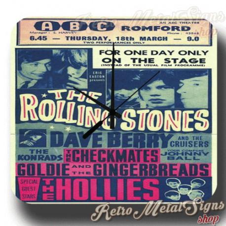 Rolling Stones Concert  metal tin sign wall clock