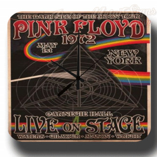 Pink Floyd 1972 Concert metal tin sign wall clock