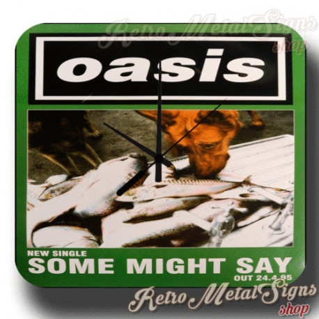 Oasis Some Might Say 1995 metal tin sign wall clock