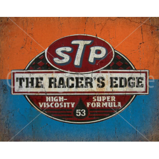 Stp Oil The racers edge    vintage metal tin sign wall plaque