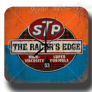 Stp Oil The racers edge garage metal tin sign wall clock