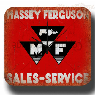 Massey Ferguson sales service garage metal tin sign wall clock